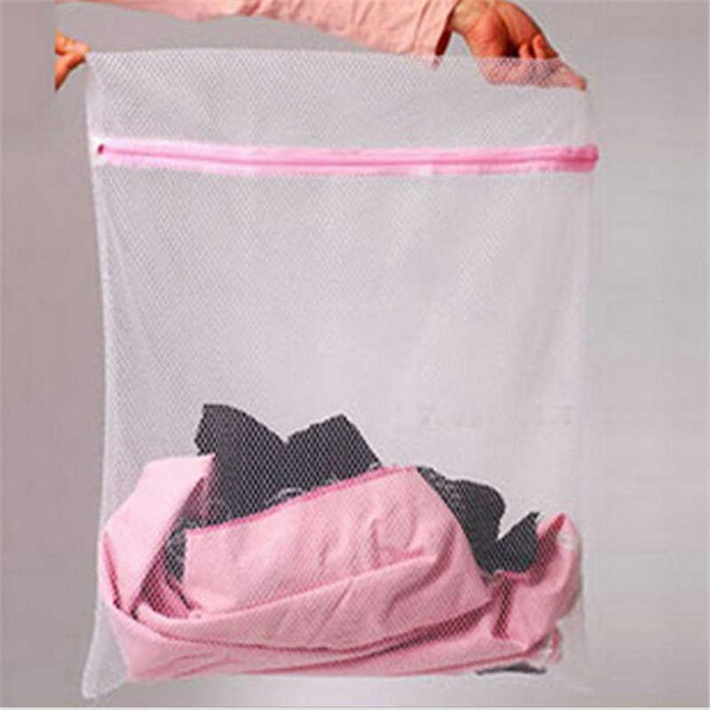 3 Tamanho Lavagem De Roupa Sacos de Malha Com Zíper Dobrável Delicados Lingerie Meias Sutiã Cueca Máquina de Lavar Roupas de Proteção Net
