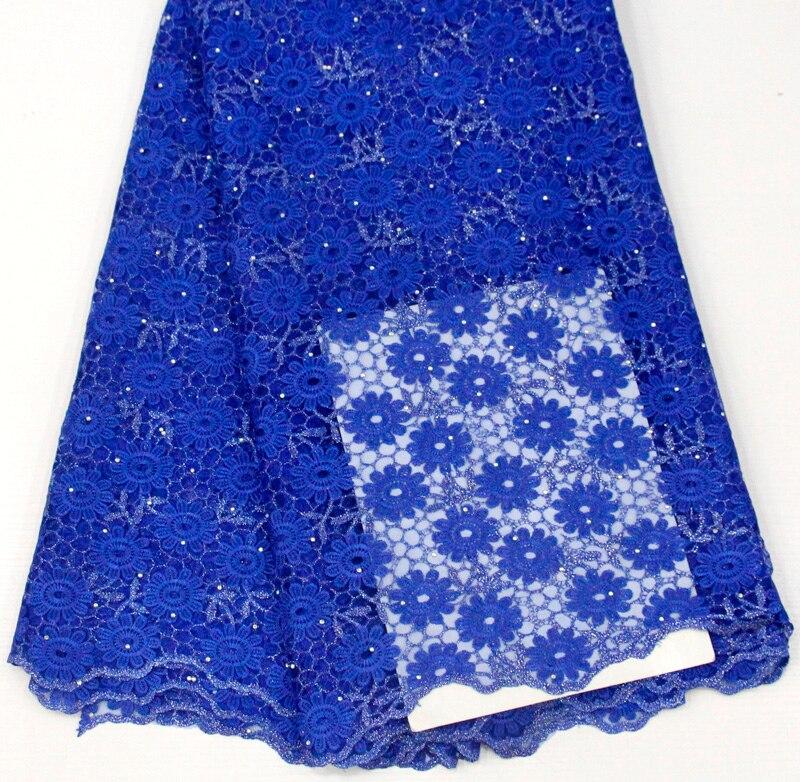 royal blue nigerian lace fabric 2018 fashion tassel lace material stone fabric high quality embroidery fabric 5yard/lotroyal blue nigerian lace fabric 2018 fashion tassel lace material stone fabric high quality embroidery fabric 5yard/lot