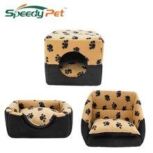 Pet Dog House Bed Perrera Perrito Perrito Caliente de múltiples funciones Sofá Gato Ponedero Estera Gatito S/M Para las Pequeñas y Medianas Perro Alimentos Para Mascotas