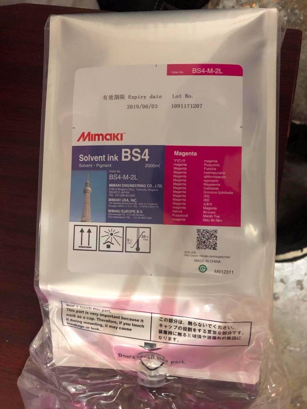 Original Mimaki tinta solvente BS4 2000 ml CMYK
