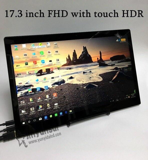 17.3 Cal super cienkie ekran dotykowy ips dla PS3 PS4 XBOX korzystania z samochodu przenośny monitor na PC Laptop 1920*1080 P hd lcd ekran