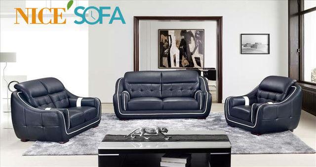 Home Design Living Room Furniture Genuine Leather Sofa Coach A710 ...