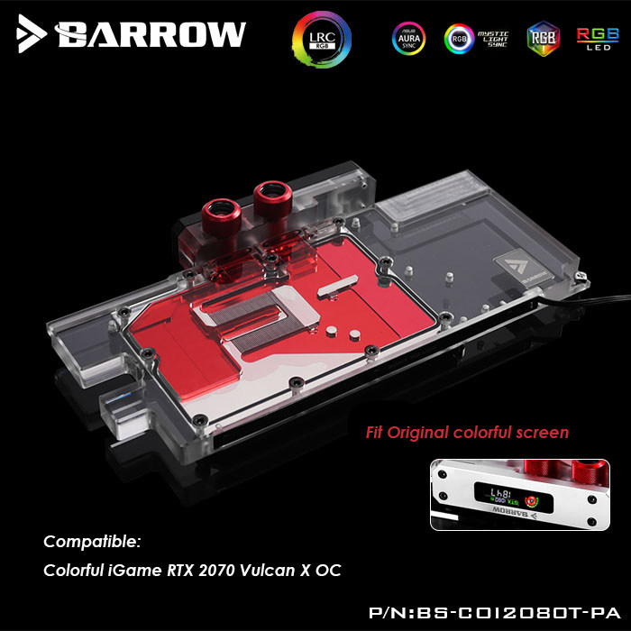 BYKSKI Full Cover Graphics Card Block use for ASUS  STRIX-R9-390-DC3OC-8GD5-GAMING Video Card Copper Block RGB Light