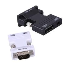 HDMI Женский к VGA Мужской Конвертер с Аудио Адаптер Поддержка 1080 P Сигнала HDMI-VGA Аудио Адаптер Передачи