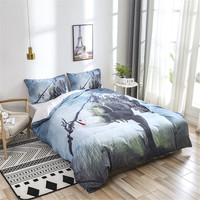 3D Dragon on the Castle Duvet Cover Bedding Set Dinosaur Quilt Cover Pillow Case Home Curtains And Linens