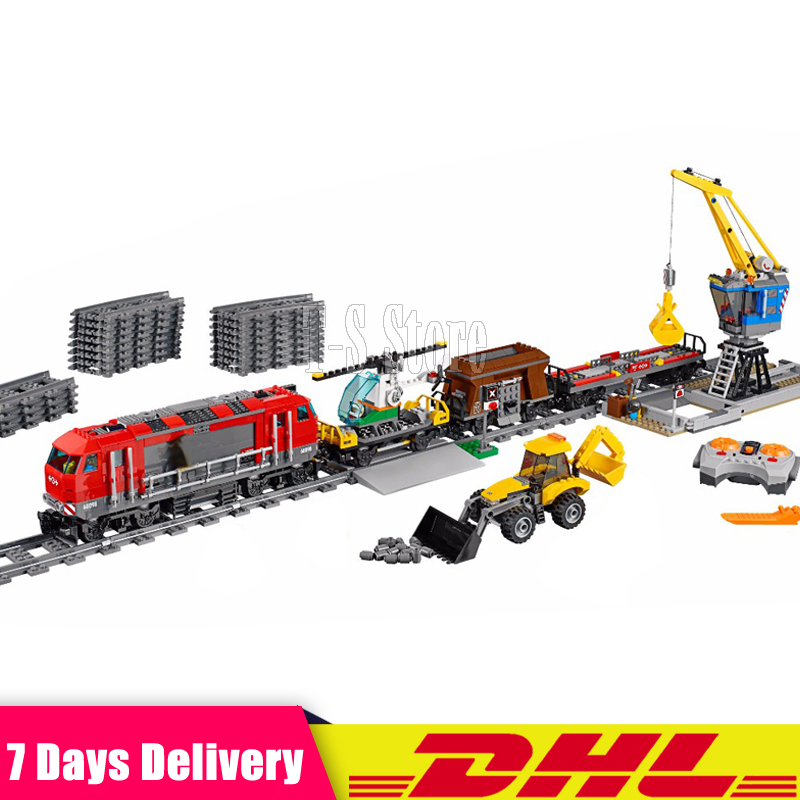 DHL IN Stock LEPIN 02009 City Engineering Remote Control RC Train Set Educational Building Blocks Bricks Toys Model Clone 60098 in stock lepin 23015 485pcs science and technology education toys educational building blocks set classic pegasus toys gifts