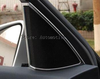 מסגרת רמקול דלת פנים כרום לקצץ עבור מרצדס בנץ C Class W204 C180 C200 C260 2008-2014 סטיילינג המכונית אביזרי ABS