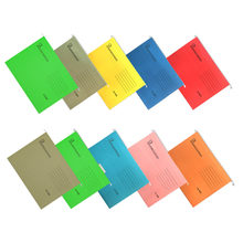 10PCS A4 Size Expanding Hanging File Folders with Tab for Hotels Libraries Offices Study Rooms Mix Color(China)