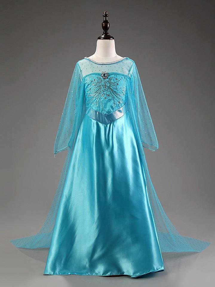 HTB1OlclmBDH8KJjSszcq6zDTFXaC 2019 Elsa Dresses For Girls Princess Anna Elsa Costumes Party Cosplay Elza Vestidos Hair Accessory Set Children Girls Clothing