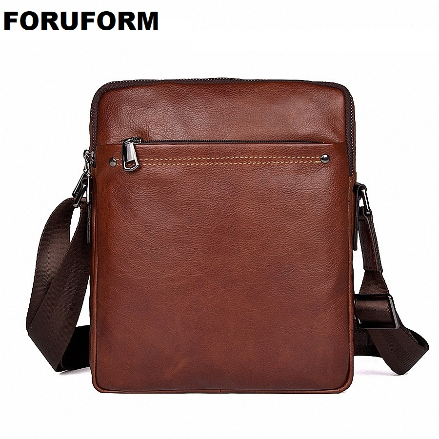 все цены на 100% Genuine Leather High Quality Business Men's Bag Messenger Bags Men Leather Crossbody Shoulder Bag Men Travel Bags LI-2109