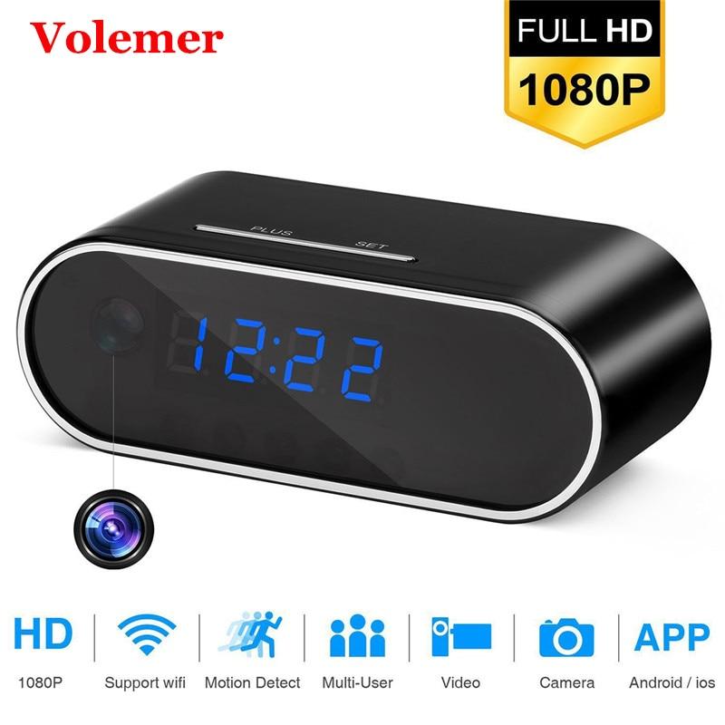 Volemer Z10 Table Clock Camera Alarm Setting Mini Camera IR Night Vision mini Wifi full HD 1080P DV DVR Small IP Mini Camera цена
