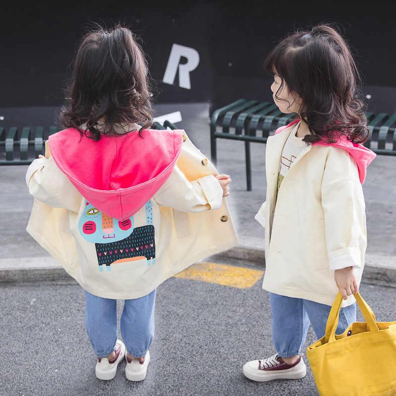 213387bda521 Children s clothing girls 2019 spring Korean version of the baby girl ocean  tide van hooded wild