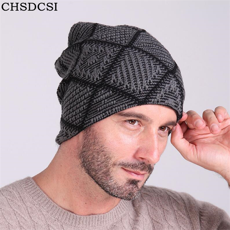 CHSDCSI 2017 Winter Beanies Solid Color Cotton Hat Unisex Warm Grid Ski Beanie Skull Knit Cap Knitted Caps Casual Men Women Hats new winter beanies solid color hat unisex warm grid outdoor beanie knitted cap hats knitted gorro caps for men women
