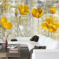Custom European Style Retro Wallpaper Abstract Flower Mural Art Living Room Bedroom Non Woven Backdrop Wall