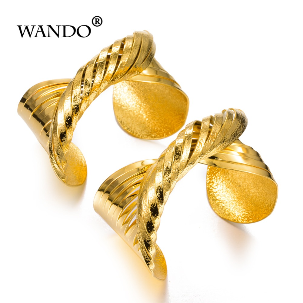 WANDO 2pcs/lot Jewelry Gold...