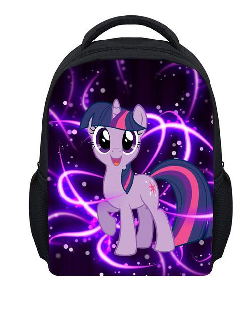 FORUDESIGNS Children School Bolsas de My Little Pony Bolso de Hombro Para Las Muchachas, Impresión 3D Pequeños Niños Mochila Bebé Mochila Infantil