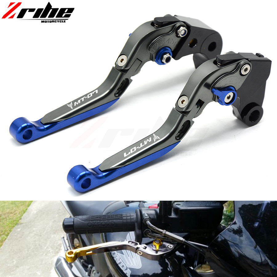 For Motorcycle accessories parts CNC clutch brake clutch levers set For Yamaha MT07 MT 07 MT-07 FZ07 FZ-07 FZ 07 2014 2015 2016 for yamaha fz 8 fz8 2010 2011 2012 2013 2014 motorcycle accessories cnc aluminum extendable brake clutch levers extending gold