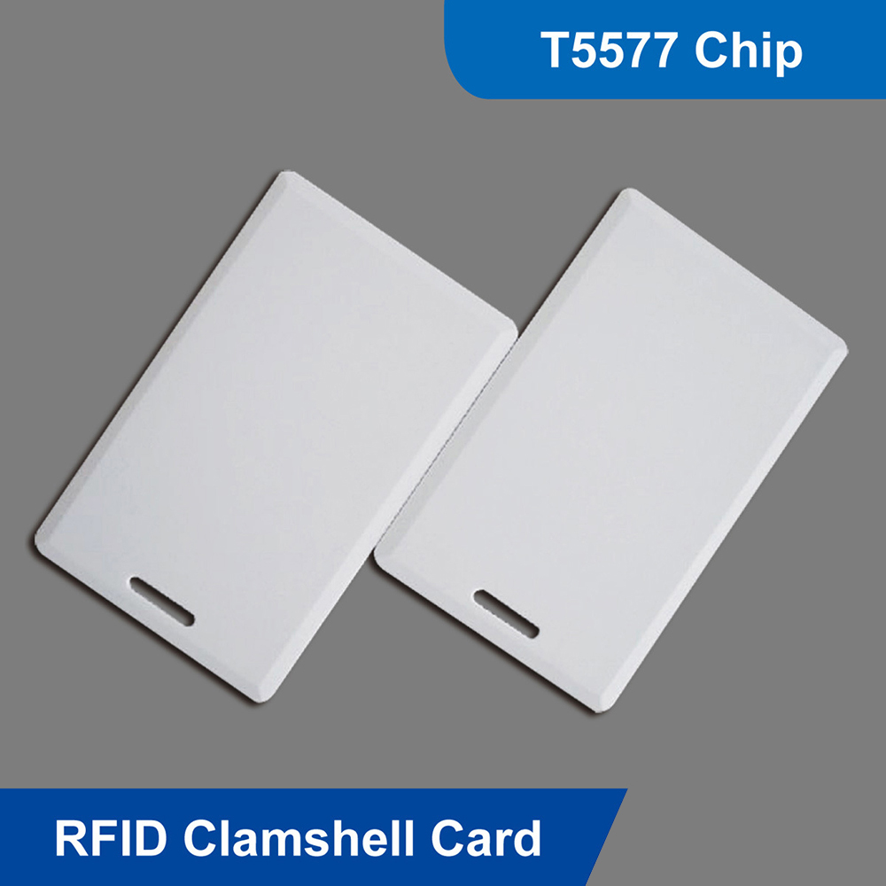 125Khz RFID T5577 Writable Thick Proximity Clamshell Card For Access Control Identification And Smart Home Security Systems