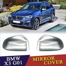 Misura Per BMW X3 G01 2018 2019 ABS Cromato Opaco Esterno Porta Laterale Specchi Retrovisori Copertura Trim Cap 2 pz car Styling Accessori