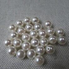 Recta agujero agujero de la perla Accesorios Para El Cabello pieza diydecorationshigh imitación perlas belleza del teléfono de DIY esencial 3mm-20mm 50g
