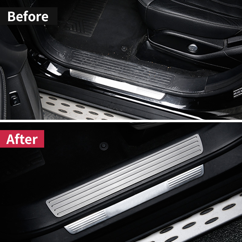 For Mercedes Benz GLE W166 350d 320 400 amg GLE coupe  c292  Door Sill Scuff Plate Welcome Pedal Trim Cover Sticker AccessoriesFor Mercedes Benz GLE W166 350d 320 400 amg GLE coupe  c292  Door Sill Scuff Plate Welcome Pedal Trim Cover Sticker Accessories
