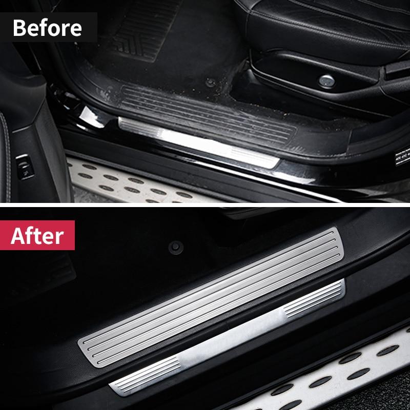 Pour Mercedes Benz GLE W166 350d 320 400 amg GLE coupe c292 seuil de porte plaque de seuil bienvenue pédale revêtement d'habillage autocollant accessoires