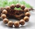 15MM  textured  WOOD  Beads  Buddhist Prayer Bracelet Mala x1 ML04