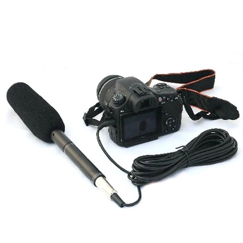 Конденсатор для интервью DSLR, всенаправленная камера, Стандартный микрофон, разъем 3,5 мм для камер Canon, Nikon s