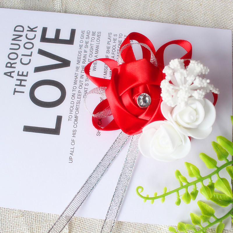 wrist corsage bracelet bridal wedding flowers Bridesmaid  (107)