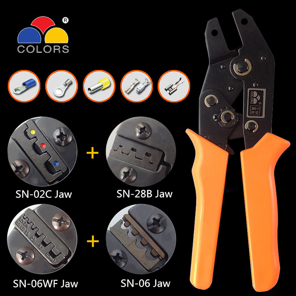 crimping tool sn-28b terminal crimper pliers pince a sertir ferrule wire crimp hand tool alicate crimpador Multi SN-48B SN-02C
