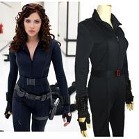 Halloween women The Advengers black widow costumes Natasha Romanoff black battle suits Scarlett Johansson costume any size