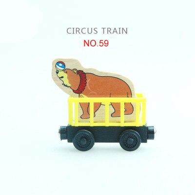 EDWONE деревянный магнитный Поезд Самолет деревянная железная дорога вертолет автомобиль грузовик аксессуары игрушка для детей подходит Дерево Biro треки подарки - Цвет: 59