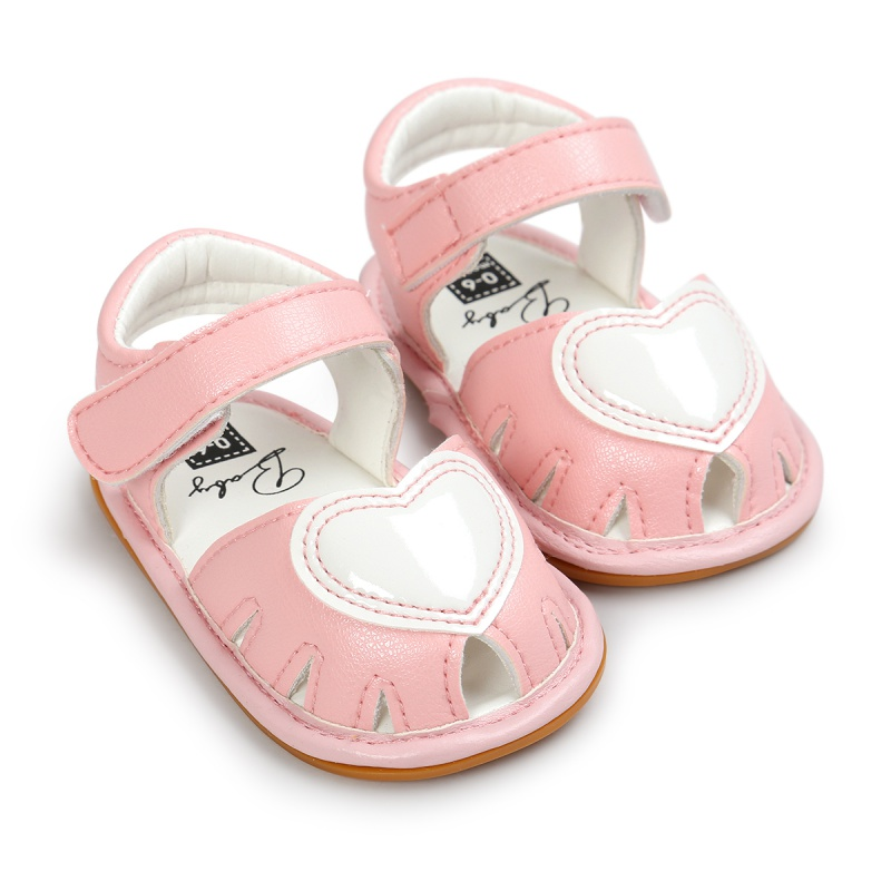 2017 Soft Sole Kid First Walkers Toddler Baby Boy Shoes Heart PU Leather Prewalker Summer Princess Shoes