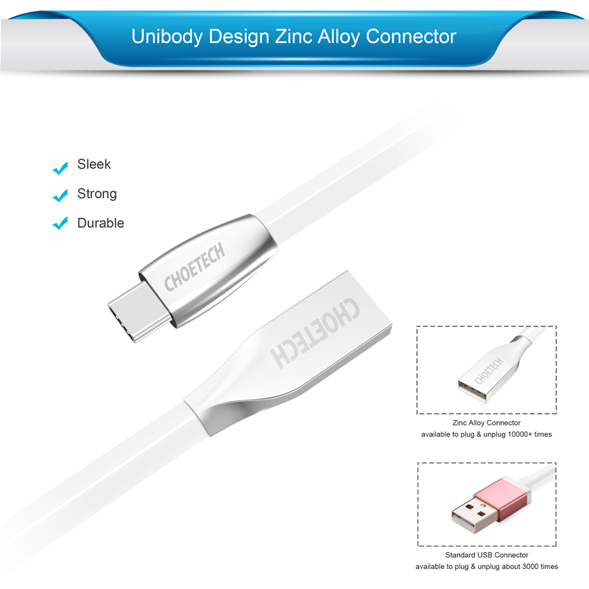Image 2 - CHOETECH Type C Cable USB A Male to USB C Fast Charging Type C USB Cable For Samsung S9/S8/Note 8 One Plus Mobile Phone Cables-in Mobile Phone Cables from Cellphones & Telecommunications