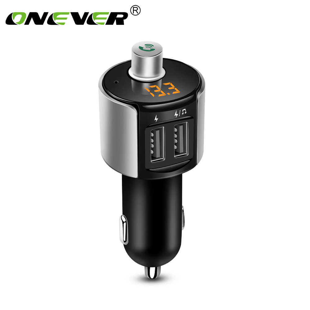 Onever Wireless Bluetooth FM Transmitter Modulator Car Radio Adapter Car MP3 Player 3.4A Dual USB Car Charger Handsfree Car Kit 3 in 1 universal car kit mp3 player fm transmitter bluetototh car modulator radio dual port car charger for iphone for samsung