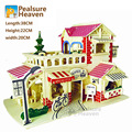8pcs wood/Set 3D Wood Puzzle DIY Model House France French Romantic Coffee wooden building puzzle 159 pcs puzzle composition kit