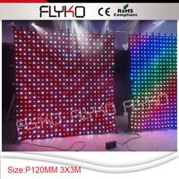 Free Shipping Decoration Disco Equipment P120MM 3 3M 10 10ft Led Stage Curtain