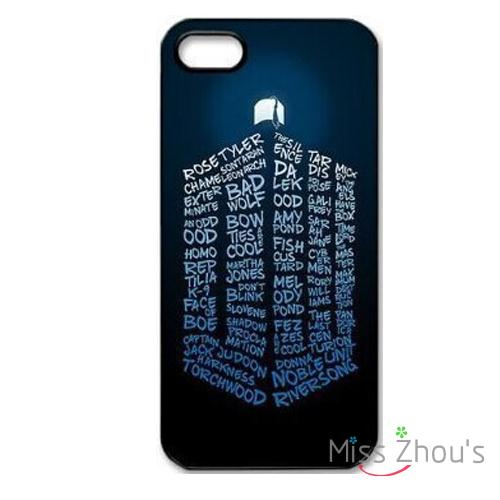 Doctor Who Typography Protector Back Skins Mobile Cellphone Cases For Iphone 4/4s 5/5s 5c Se 6/6s Plus Ipod Touch 4/5/6 Home