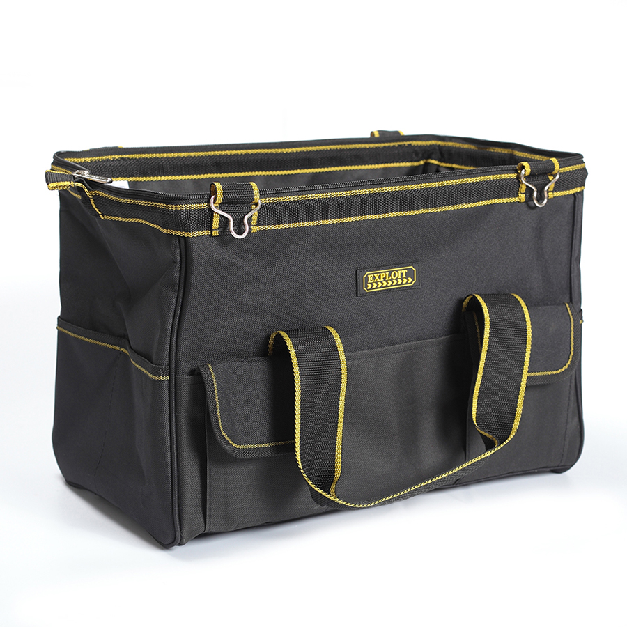 600D Foldable Tool Bags Close Top Wide Mouth Shoulder Bag Handbag Tool Organizer Storage Bag 121416 tool bags 600d close top wide mouth electrician bags small bags