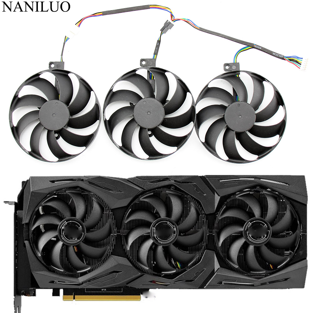 US $40 0 |3pcs/set T129215SU 7Pin GPU Card Cooler Fans For ASUS ROG STRIX  GeForce RTX 2080 2080 Ti GAMING RTX2080 RTX2080Ti Fan-in Fans & Cooling  from