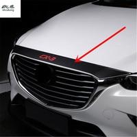 1pc carbon fiber PU leather for 2015 2016 2017 2018 Mazda CX 3 CX3 CX 3 car stickers car accessories Automobile car front cover