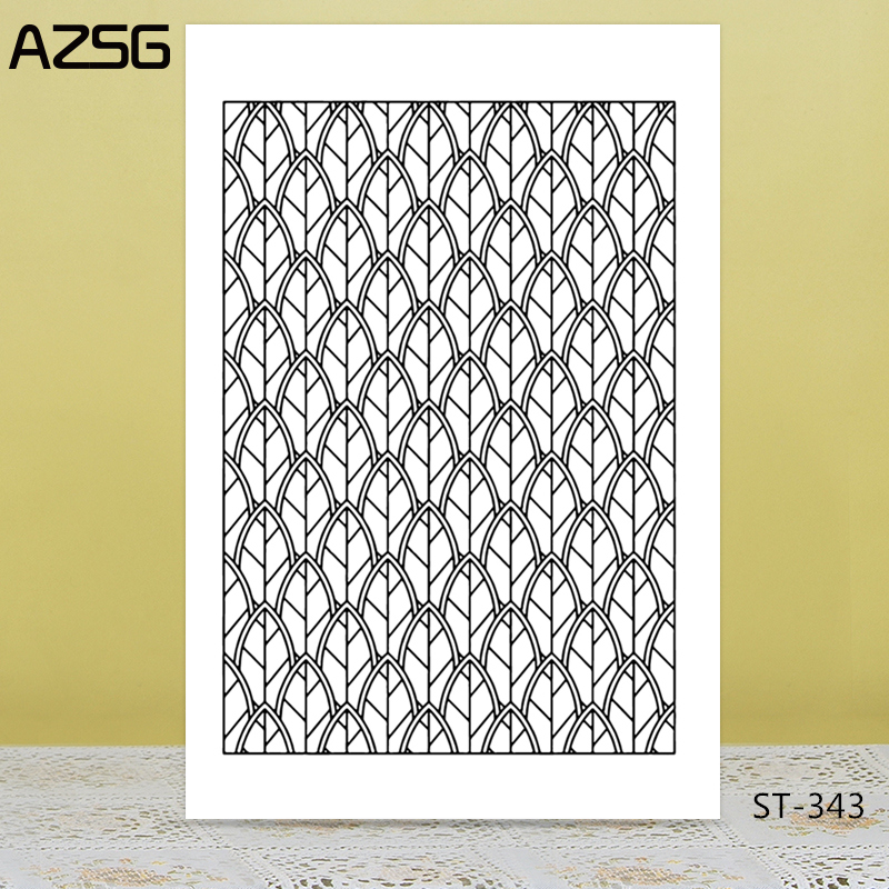 AZSG Dense Bamboo Fence Blade Clear Stamps/Seals For DIY Scrapbooking/Card Making/Album Decorative Silicone Stamp Crafts