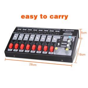 Image 2 - G MARK 8 채널 미니 휴대용 믹서 오디오 콘솔 모노/스테레오 사운드 시스템 악기 마이크 전원 어댑터에 대 한 확장