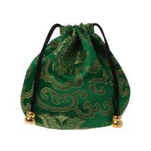 Традиционный Шелковый дорожный мешочек, Классический китайский органайзер для ювелирных изделий с вышивкой