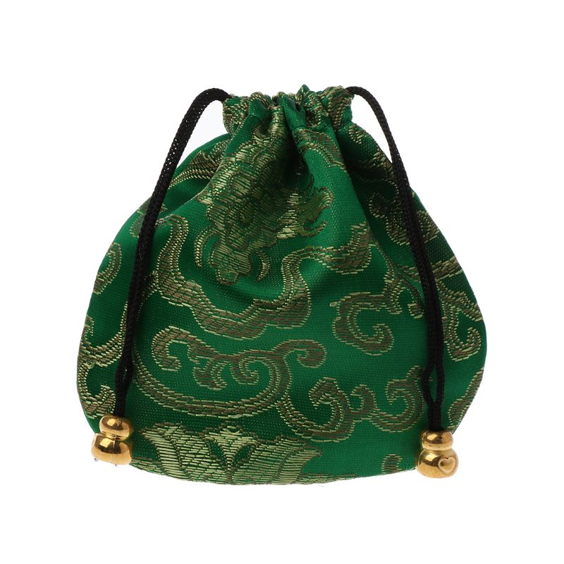 Traditional Silk Travel Pouch Classic Chinese Embroidery Jewelry Bag Organizer