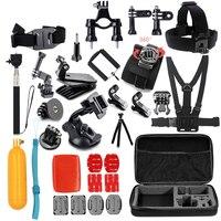 Tekcam for xiaomi yi Accessories set for yi 4k/yi 4k plus/Yi Lite for gopro hero 5 4 3 for SJCAM SJ4000 SJ5000 SJ6 SJ7 case bag