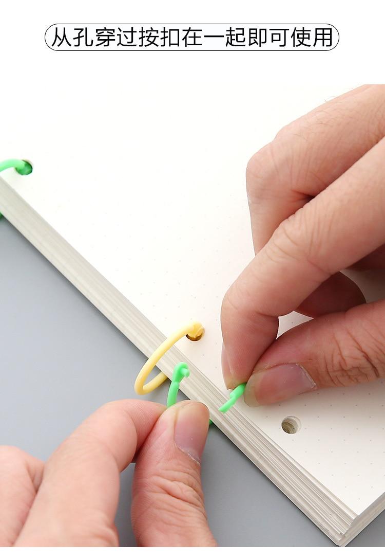 Easy Ring Paper Book Loose Leaf Binder Multi-function Calendar Ring Perfect