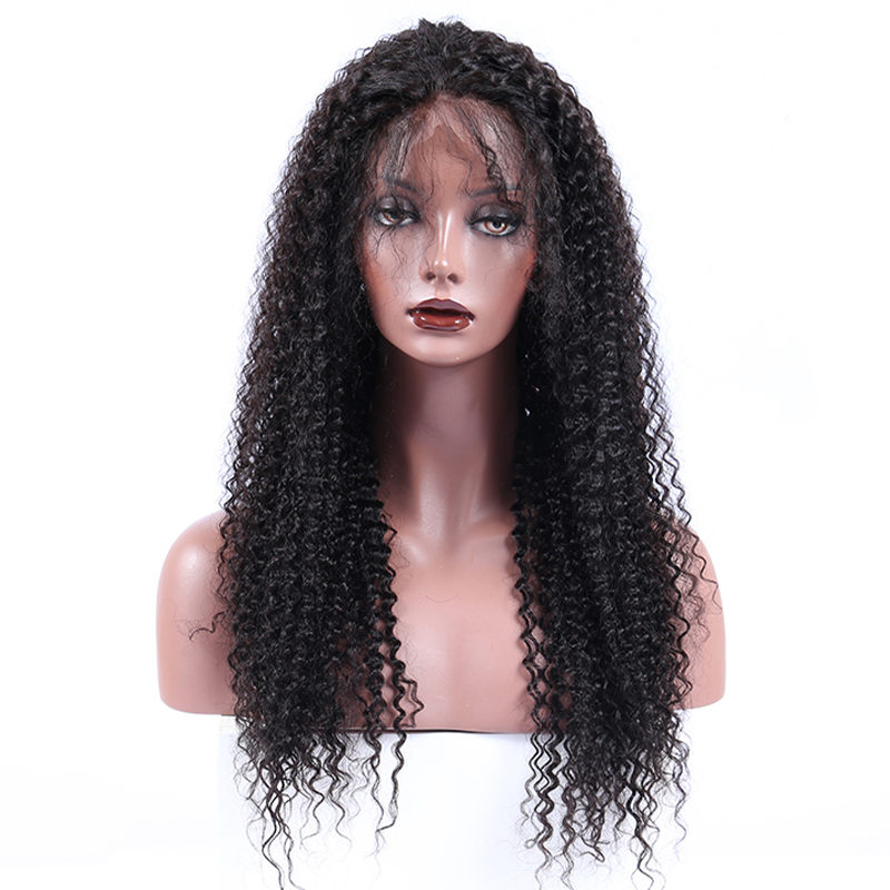 Pre Plucked Full Lace Wigs Human Hair With Baby Hair 250% Brazilian Kinky Curly Full Lace Human Hair Wigs Honey Queen Remy
