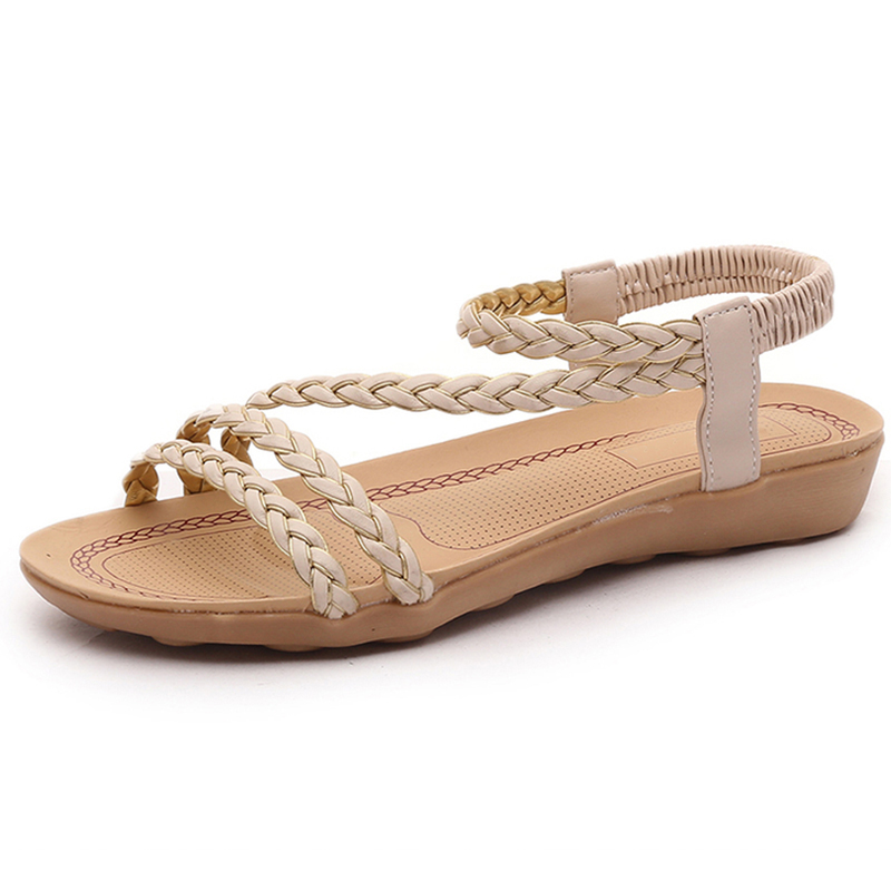 Summer women shoes New Women Sandals woman Flip Flops Ladies Flat Sandals chaussure Sandalias 2018 Plus Size size 34 43 new 2016 low heel flats women s sandals flip flops women sandals spring summer ladies shoes woman good y0502217f
