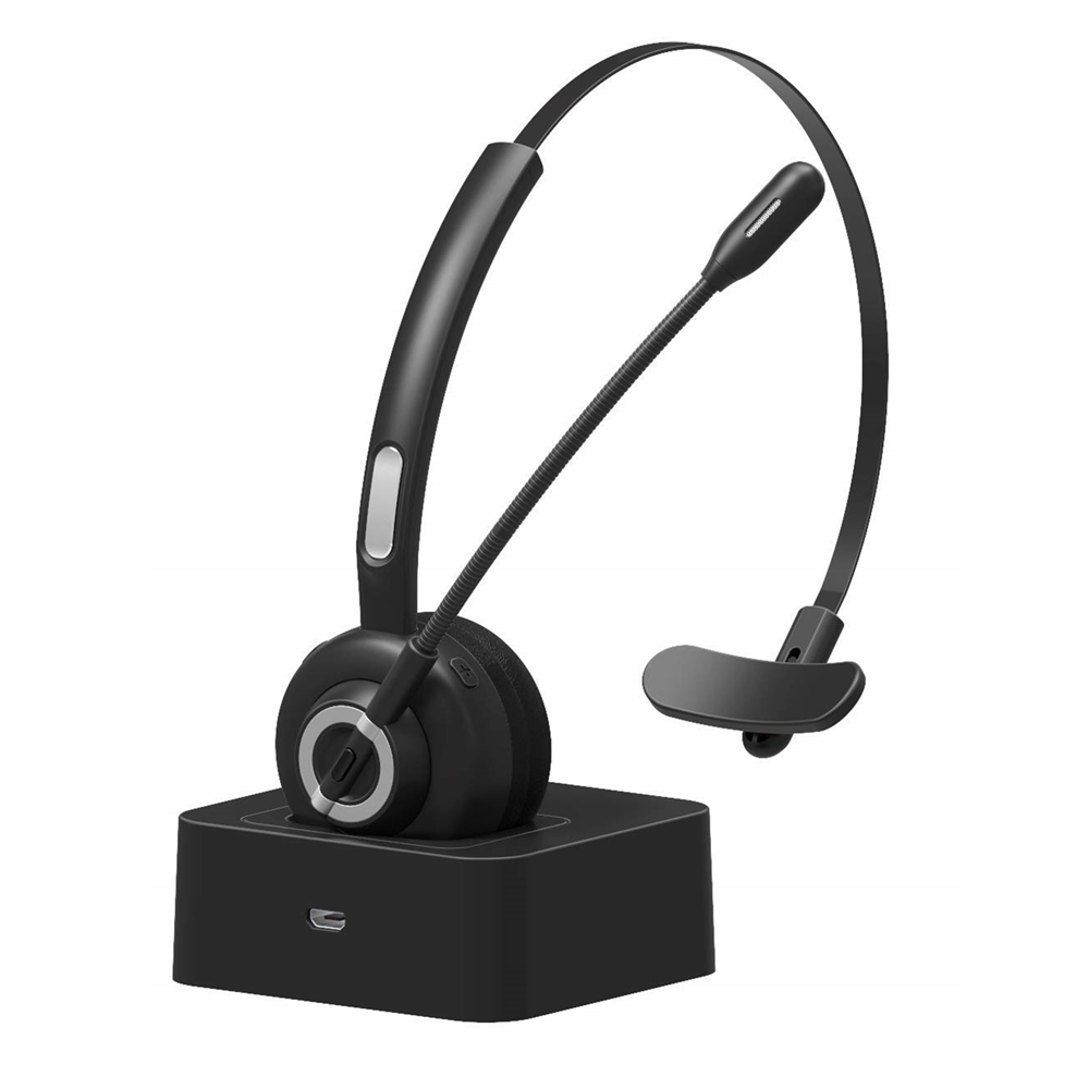 Office Wireless Headset Trucker Bluetooth Headset For Cell Phone Calling Cvc6 0 Noise Cancelling Supports A2dp Music Playing Bluetooth Earphones Headphones Aliexpress